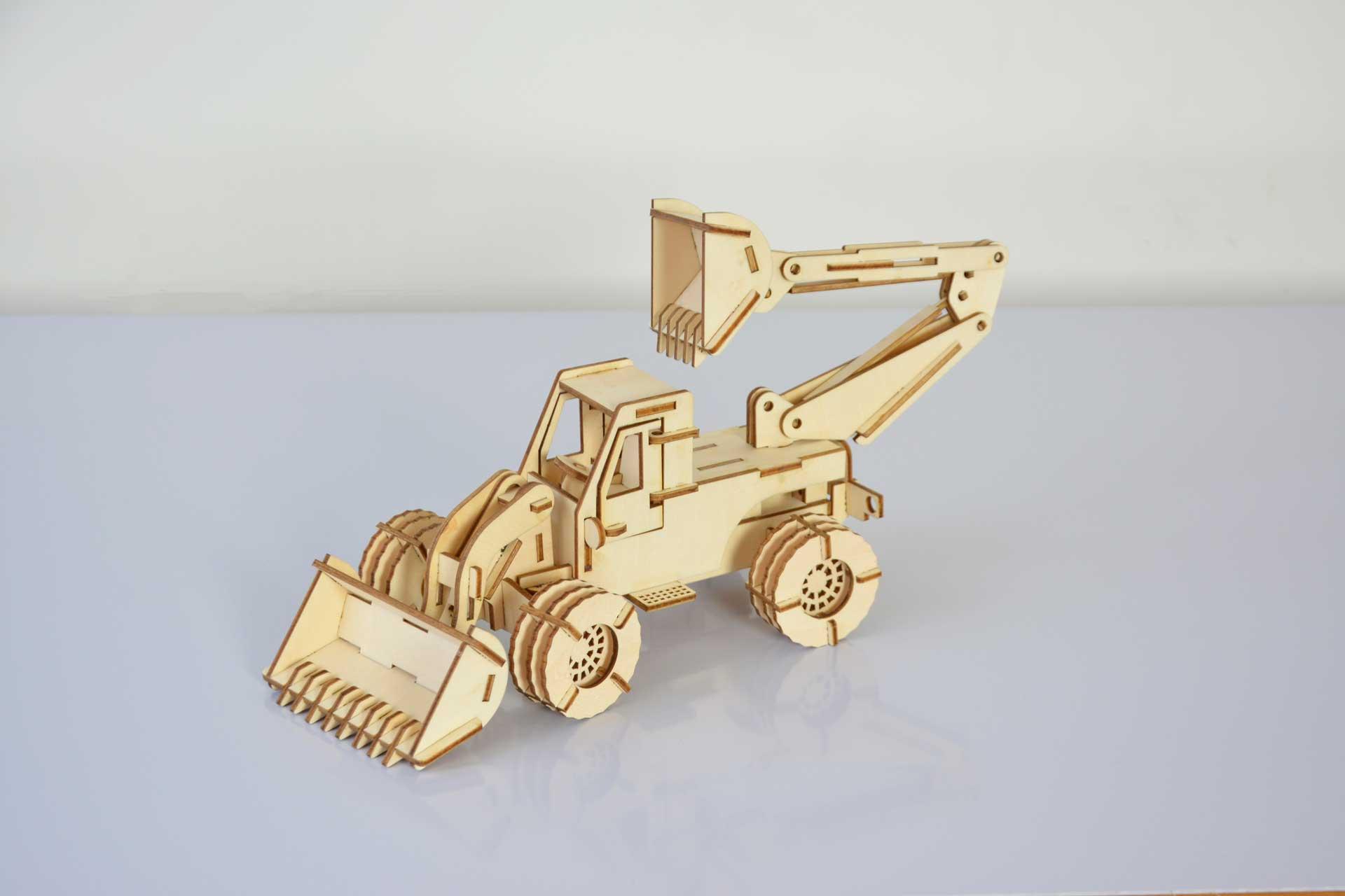 Debitare laser excavator de jucarie pentru copii