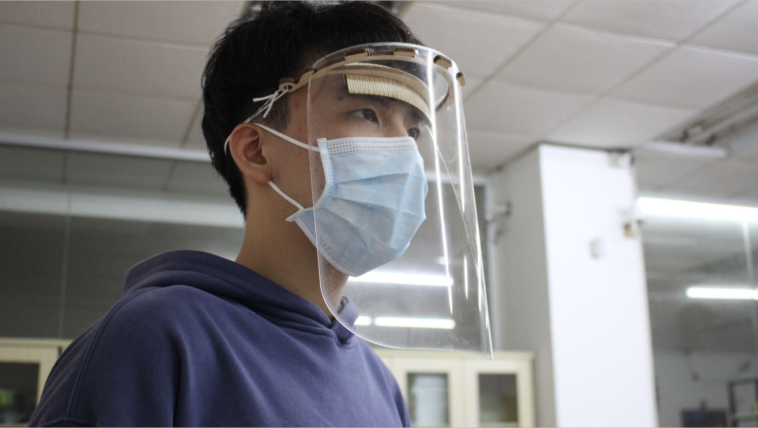 Debitarea laser a unui ecran de protectie